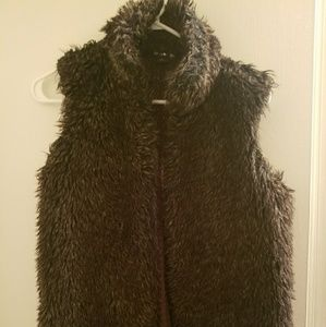 Womens faux fur sweater vest